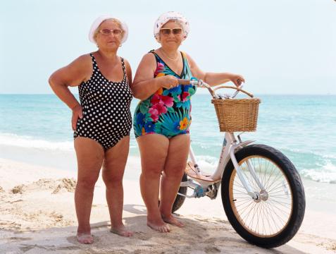 abuelas en bici